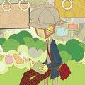 (奈良に行ってきました。完全に私服着せてみました状態。)