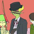 (いろんな帽子を描きたくて)