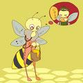 (働き蜂は質の悪いみつを持ち帰ったらみつ回収係のハチに待たされるそうです)
