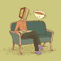 なにを読んでいるの? (イスズとテア嬢)