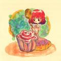 (飲み会のデザートのアイスのカップが桜の花型でした。)