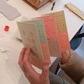 友達が自分デザインのカレンダーを作ってくれました……!!ありがとう!