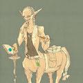 キーワード:キツネ目 3つの口 眼鏡 白衣 下半身馬