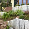 Mise en place de palissades granit et grès