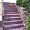 Réalisation d'un escalier en grès