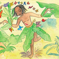 Oufana et le papillon bleu-illustrations Véronique Abt