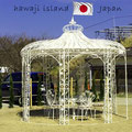Installazione gazebi in ferro battuto - isola Awaji - Giappone