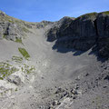 Steiler und steiniger Abstieg vom Gross Walenstock