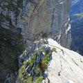Eine weitere luftige Kletterstelle
