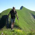 Hans auf unserem ersten Gipfel
