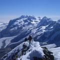 Majestätische Aussicht in Richtung Monte Rosa-Gruppe