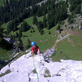 Einfache Kletterei am Südgrat