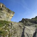 Beim Murmelchopf kommen die Kletterpassagen