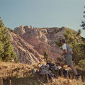 Von der Mythenmatt geht's hoch über das Rot Grätli zum Gipfel
