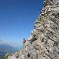 Teilweise recht exponierte Kletterei