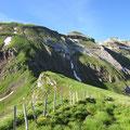 Sinsgäuer Schonegg - Von hier gehts auf dem blauen Bergweg direkt links hoch zum Grat.