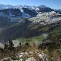 Blick vom Blatti nach Wiesenberg - Wirzweli - Aecherlipass