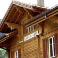 Start beim Bahnhof von Château-d'OEx