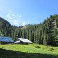 Die einsame Alp Blatti - hinten der Sattelstock