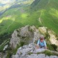 Klettern im II. Grad im kompakten Fels