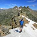 Hans kurz vor dem Gipfel