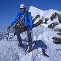 Richi auf dem Schweizergipfel, 4'478m / 10.00