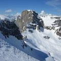 Der Gipfelaufschwung - hinten der Sättelistock