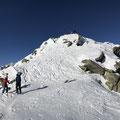 Winterhorn im Schlussaufstieg