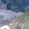 Steiler Abstieg nach Rosenlaui