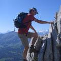 Immer wieder gibt es leichte Kletterstellen zu bewältigen