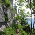 Klettersteigähnlicher Steilaufstieg