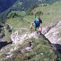 Steiler Schlussaufstieg vor dem Grat (Tisch)
