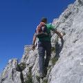 Steiler Schlussaufstieg