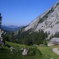 Von der Alp Laub wird der Südgrat sichtbar