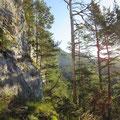 Direktaufstieg zum Franzenstock