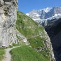 Spannender Weg - alpines Ambiente