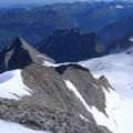 Abstieg zum Gletscher via Nordostgrat