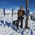 Aufgrund der aussergewöhnlichen Erwärmung ging es heute leider nicht ohne sehr schwere Skis