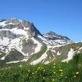 Blick zur Bannalper Schonegg, Ruchstock und Laucherenstock