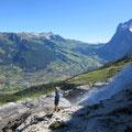 Blick zur Grossen Scheidegg und Wetterhorn