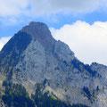 Gross Mythen Westwand und Gipfelaufbau