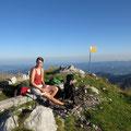 Leonie auf dem Gipfel