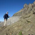 Auf ca. 2'940 m gelangen wir zum Einstieg in den Bänderweg.