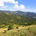 Rückblick vom Haldimattstock zur Looegg und Bärenturm