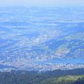 Blick auf Stadt Luzern - Rontal - Rotkreuz - Zugerseegebiet