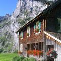 Von der Alp Waldnachter Bergen geht's steil aufwärts