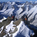Enge Platzverhältnisse im Gipfelbereich