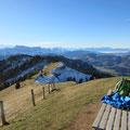 Gipfel mit gemütlichem Bänkli