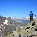 Pizzo Forno mit Weitblick bis in die Berner und Walliser Alpen