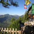 Aussicht bis zum Mont Blanc